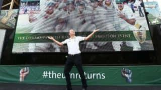 Chris Rogers dances at Australia's Ashes celebrations