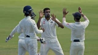 Ashwin's 5-for puts India on cusp of win at tea in 1st Test, Day 4