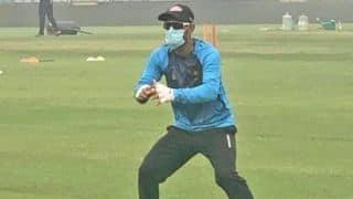 दिल्ली टी20 से पहले मास्क पहनकर प्रैक्टिस करते दिखे बांग्लादेशी खिलाड़ी