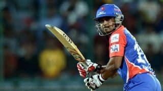 Delhi Daredevils score 160/5 against Kolkata Knight Riders in IPL 2014