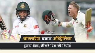 Bangladesh vs Australia, 2nd Test, 3rd day: Visitors scores 377/9, lead by 72 runs