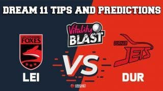 Dream11 Team Leicestershire vs Durham North Group VITALITY T20 BLAST ENGLISH T20 BLAST – Cricket Prediction Tips For Today's T20 Match LEI vs DUR at Chester-le-Street