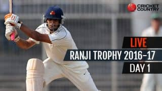 LIVE Cricket Score Ranji Trophy 2016-17, Day 1, Round 2