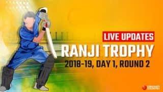Ranji Trophy 2018-19 LIVE: Live Cricket Score, Round 2, Day 1