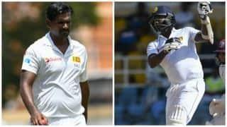 West Indies vs Sri Lanka: Angelo Mathews, Lahiru Gamage to return home
