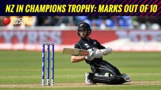 CT 17, NZ review & marks out of 10: Rain, heavy reliance on Williamson hurt Kiwis