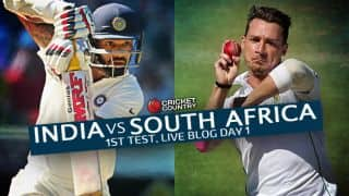 SA 28/2 | Live Cricket Score India vs South Africa 2015, 1st Test at Mohali, Day 1: Spinners dominate on eventful day