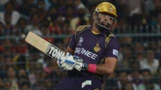 Kolkata Knight Riders continue to bat strong against Rajasthan Royals in IPL 2015