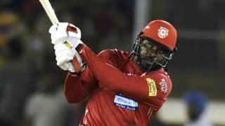 Gayle hits 11 sixes, breaks numerous records