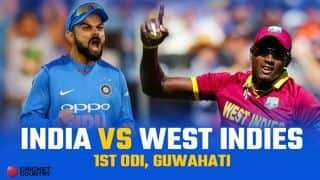 India vs West Indies 2018, 1st ODI, Live Cricket Score, Guwahati
