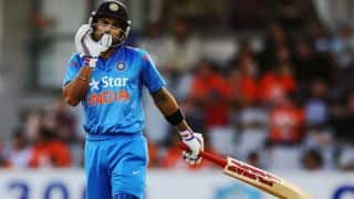 India vs Sri Lanka Asia Cup 2014 Match 4: Shikhar Dhawan leads India's innings; score 162/2 in 33 overs