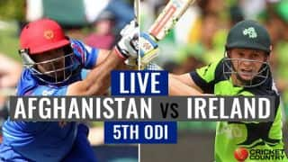 Live Cricket Score, Afghanistan vs Ireland, 5th ODI at Greater NOIDA: Porterfield completes 3000 ODI runs