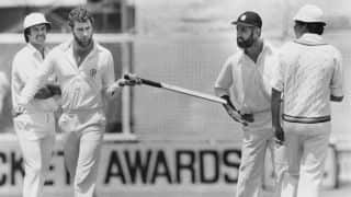 Dennis Lillee bats with aluminium bat; creates uproar