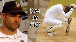 Anderson's innings and his reaction at the podium