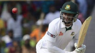 Bangladesh take 4-run lead against South Africa at lunch on Day 3 of 1st Test at Chittagong