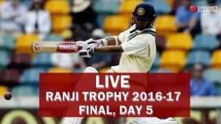 Live Cricket Score in Hindi Mumbai vs Gujarat, Ranji Trophy 2016-17 Final, Day 5