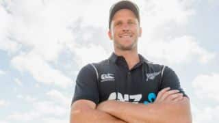 New Zealand paceman Seth Rance helps firemen extinguish fire at local pub
