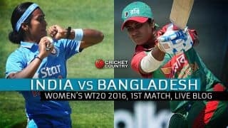 BAN W 90/5 in Overs 20, Live Cricket Score, India vs Bangladesh, Women's T20 World Cup 2016, IND W vs BAN W, Match 1 Group B at Bangalore: India win by 72 runs