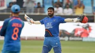 Mohammad Shahzad scores Afghanistan's first ODI hundred against top flight opposition