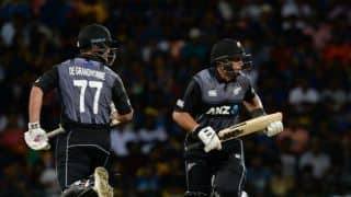 1st T20I: Taylor, de Grandhomme guide New Zealand to five-wicket in Pallekele