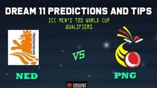 Netherlands vs Papua New Guinea Dream11 Team ICC Men's T20 World Cup Qualifiers – Cricket Prediction Tips For Today's T20 Match 27 Group A NED vs PNG at Dubai