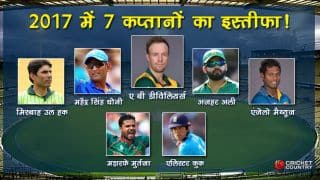 MS Dhoni and others who resign from captaincy in 2017