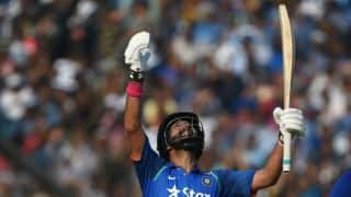 Yuvraj Singh, MS Dhoni's hundreds pummel India to 381-6