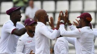Roston Chase's triple strikes restrict Pakistan to 311-6 at tea on Day 2, 3rd Test against West Indies