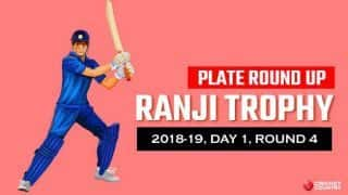 Ranji Trophy 2018-19, Round 4, Day 1, Plate: Singhania, Biswa put Meghalaya in control against Manipur