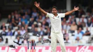 Bhuvneshwar Kumar dismisses Chris Woakes; Joe Root gets fifty for England against India