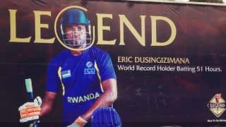 Watch Rwanda captain Eric Dusingizimana enter Guinness Book of Records in quest for cricket stadium at home