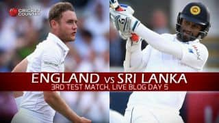 Live Cricket Scorecard, England vs Sri Lanka, Day 5, 3rd Test at Lord's: Get updates on live score and ball-by-ball commentary for Eng vs SL, 3rd Test at Lord's
