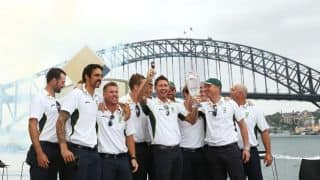 In Pictures: Australia's Ashes 2013-14 public celebrations at Sydney's Opera House
