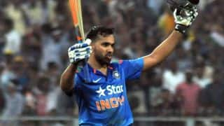 Rohit Sharma gets ton; Mitchell Starc takes six as India score 267/8 against Australia in 2nd ODI of tri-series