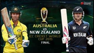 Live Cricket Score Australia vs New Zealand ICC Cricket World Cup 2015 Final: Australia are World Champions again