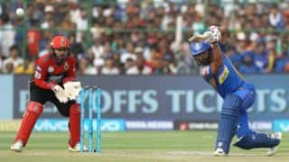 Tripathi takes RR to 164 against RCB