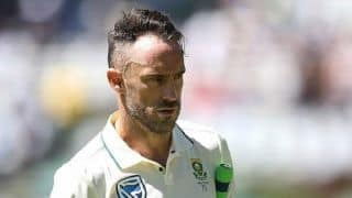 South Africa captain Faf du Plessis suspended from third Test at Wanderers