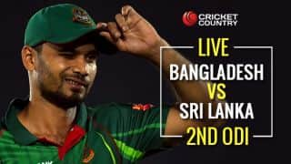 Live Cricket Score Bangladesh vs Sri Lanka, 2nd ODI at Dambulla: Tharanga, Mendis consolidate innings