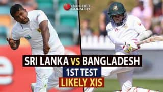 Sri Lanka vs Bangladesh, 1st Test at Galle: Likely XIs for two teams