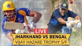 Live Cricket Score, Vijay Hazare Trophy 2016-17, Semi-Final 2, Jharkhand vs Bengal at Delhi: Bengal win by 41 runs