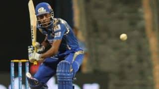 हार्दिक पांड्या की तूफानी बल्लेबाजी के दम पर मुंबई इंडियंस ने बनाए 184 रन