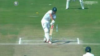 Video: Mohammed Shami splits Alastair Cook's stump into two!