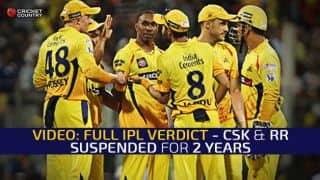 VIDEO: Full IPL Verdict - CSK & RR suspended for 2 years as Meiyappan & Kundra suspended for life