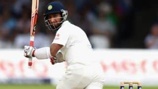 England make second breakthrough as Cheteshwar Pujara departs on Day 4 against India in 3rd Test