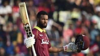 Hope's second straight century takes West Indies to respectable total