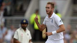 Stuart Broad says he was nervous after losing toss at Old Trafford