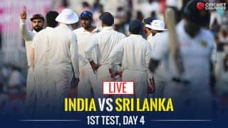 Live Cricket Score, India vs Sri Lanka, 1st Test, Day 4