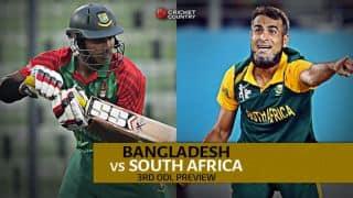 Bangladesh vs South Africa, 3rd ODI at Chittagong: Preview