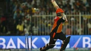 Shikhar Dhawan dismissed as rain halts play in Delhi Daredevils vs Sunrisers Hyderabad, IPL 2014