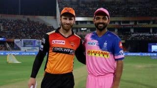 Rajasthan elect to bat, Williamson returns for Hyderabad